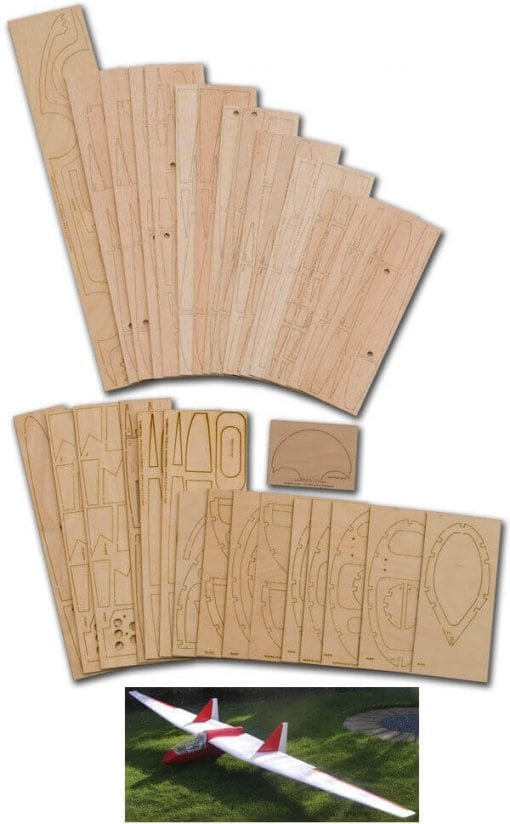 "Fauvel AV48 (158.5"") - Laser Cut Wood Pack"