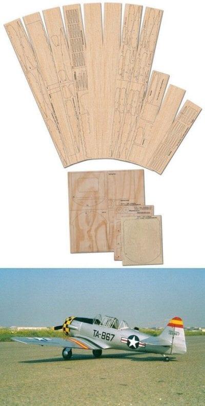 "N.A AT-6 Texan/Harvard (68.5"") - Laser Cut Wood Pack"