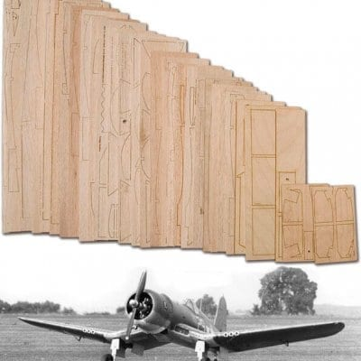 "Chance-Vought F4U-1 Corsair (61.5"") - Laser Cut Wood Pack"