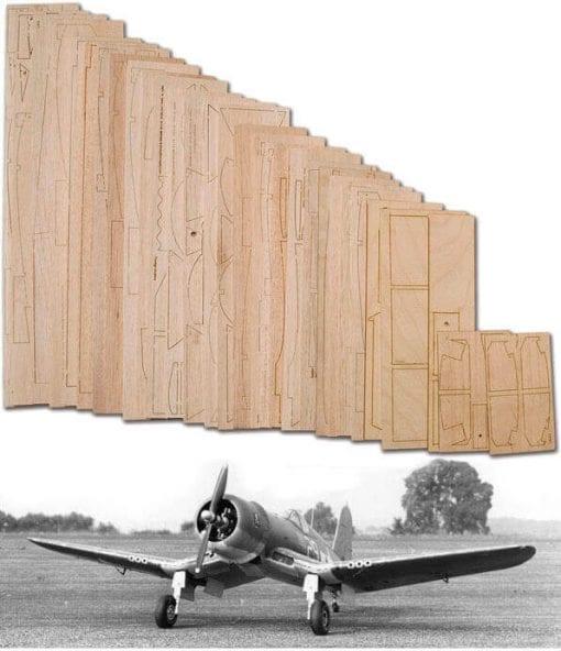 "Chance-Vought F4U-1 Corsair (61.5"") - Laser Cut Wood Pack"