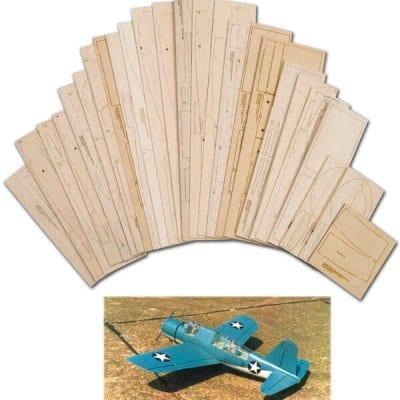"""Vought-Sikorsky OS2U Kingfisher (58"""") - Laser Cut Wood Pack"""