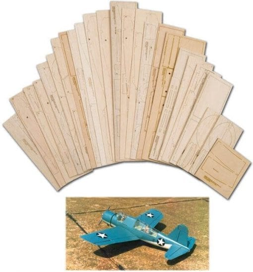 "Vought-Sikorsky OS2U Kingfisher (58"") - Laser Cut Wood Pack"