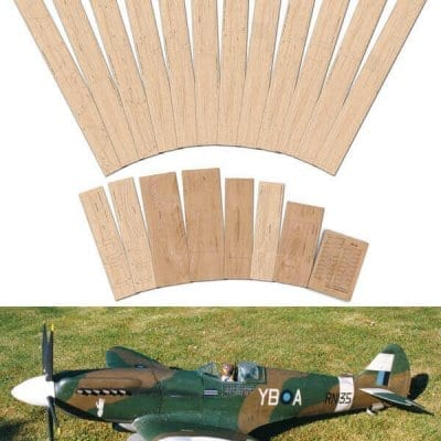 "Supermarine Spitfire Mk.XIV & XIX (69"") - Laser Cut Wood Pack"