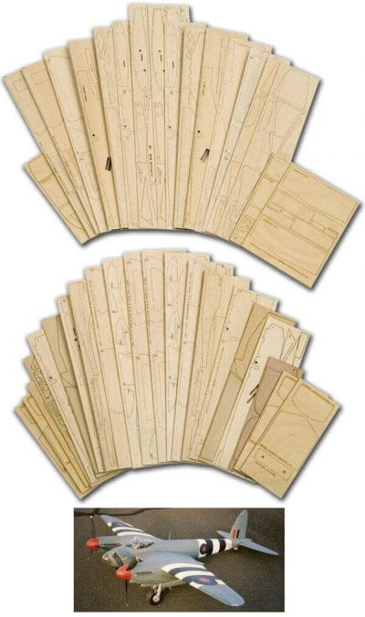 "DH98 Mosquito PR.XVI (81"") - Laser Cut Wood Pack"
