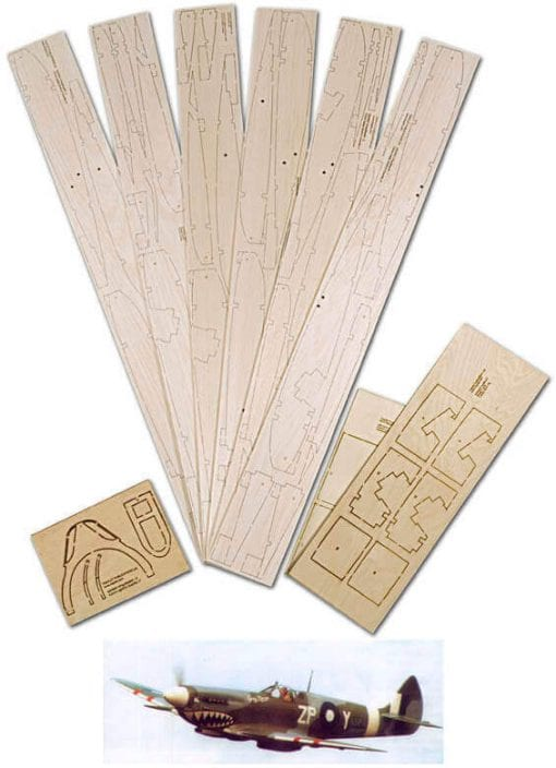 "Supermarine Spitfire Mk.VIII & IX (83"") - Laser Cut Wood Pack"