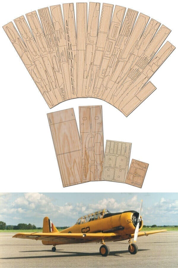 "N.A. T-6 Texan/Harvard (94.25"") - Laser Cut Wood Pack"