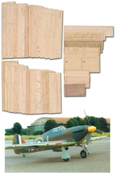 "Hawker Hurricane Mk.1 (70"") - Laser Cut Wood Pack"