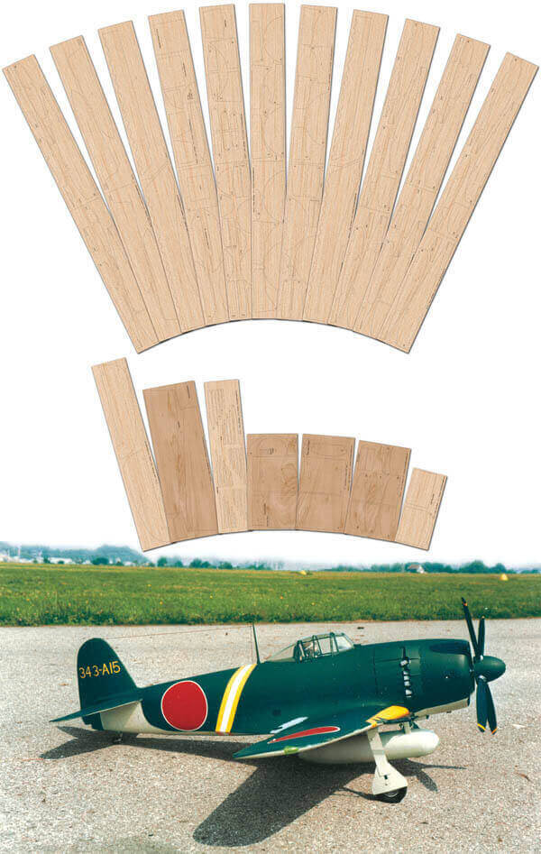 """Kawanishi N1k2-JA Shiden Kai 'George' (64"""") - Laser Cut Wood Pack"""