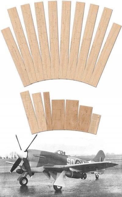 """Hawker Tempest Mk.V (61.5"""") - Laser Cut Wood Pack"""