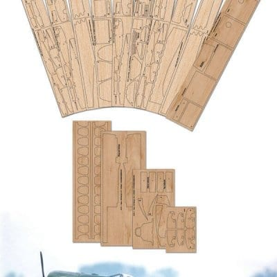 "Focke-Wulf Fw190 A-4 (60.25"") - Laser Cut Wood Pack"