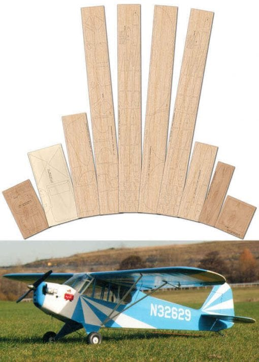 Clipped Wing Piper J-3 Cub - Laser Cut Wood Pack