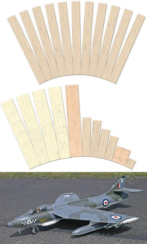 Hawker Hunter FGA.9 - Laser Cut Wood Pack