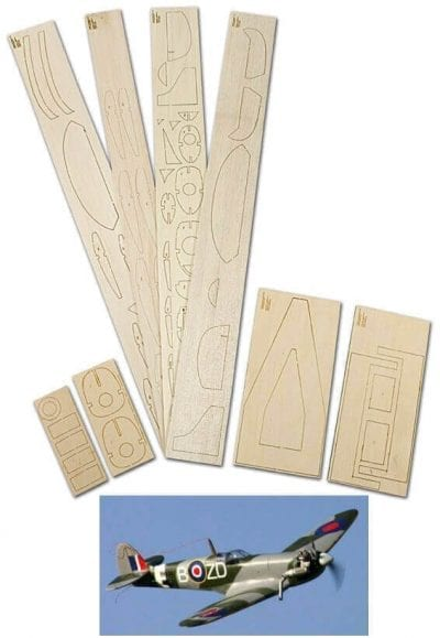 "Spitfire Mk. IX (36"") - Laser Cut Wood Pack"