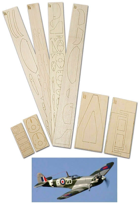 "Spitfire Mk. IX (36"") - Laser Cut Wood Pack"