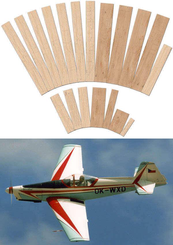 Zlin Z-526AS Akrobat Special - Laser Cut Wood Pack Pack