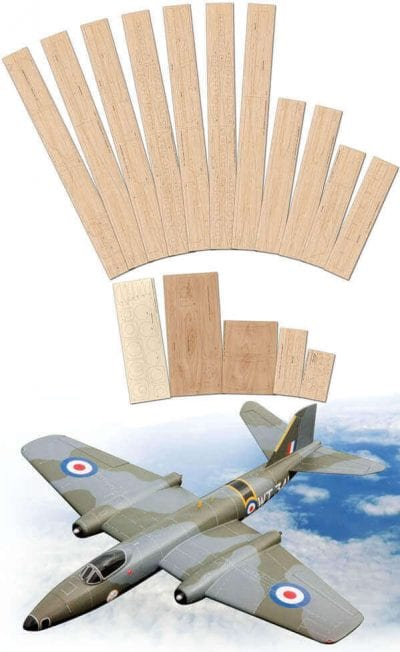 English Electric Canberra B1 Mk.8 - Laser Cut Wood Pack