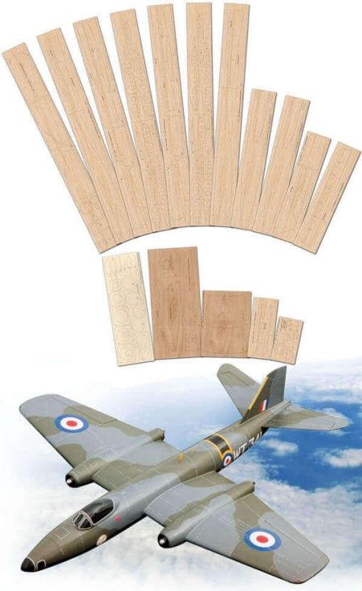 English Electric Canberra B1 Mk.8 - Laser Cut Wood Pack