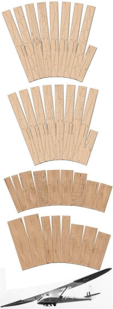 Slingsby T-21 - Laser Cut Wood Pack