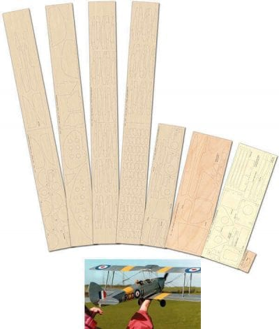 DH Tiger moth - Laser Cut Wood Pack
