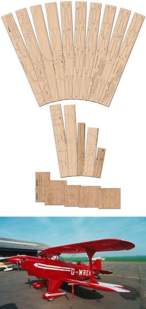 Pitts Special S-2A  - Laser Cut Wood Pack