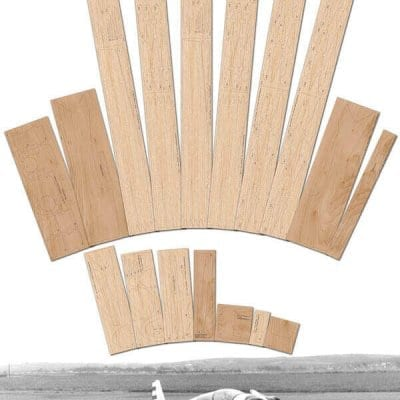 "Fournier RF5 (90"") - Laser Cut Wood Pack"