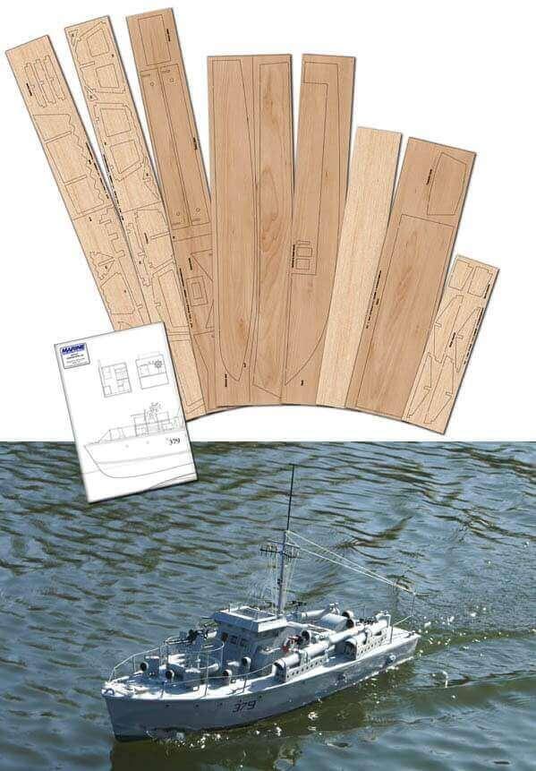 Vosper MTB 379 - Plan, Laser Cut Wood Pack & DVD