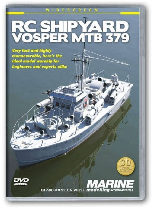 Vosper MTB 379 - Plan, Laser Cut Wood Pack & DVD