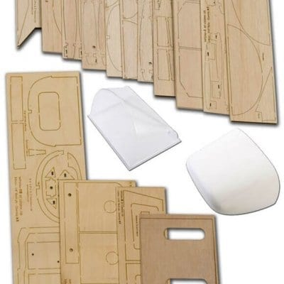 """Cessna 120 (62"""") - Plan, Wood Pack And Parts Set"""