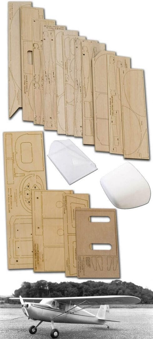"Cessna 120 (62"") - Plan, Wood Pack And Parts Set"