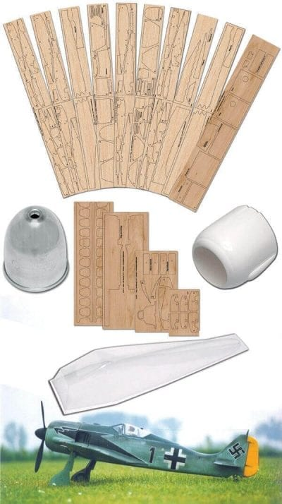 "Focke-Wulf Fw190 A-4 (60.25"") - Plan, Wood Pack And Parts Set"
