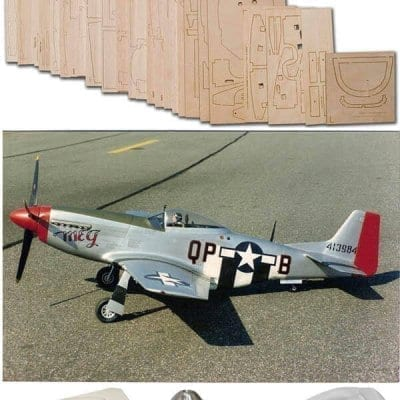 "N.A. P-51D Mustang (69"") - Plan, Wood Pack And Parts Set"