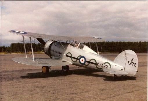 """Gloster Gladiator (56"""") Plan"""