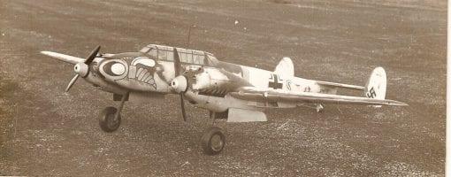 """Messerschmitt Bf110c (71"""") Plan"""